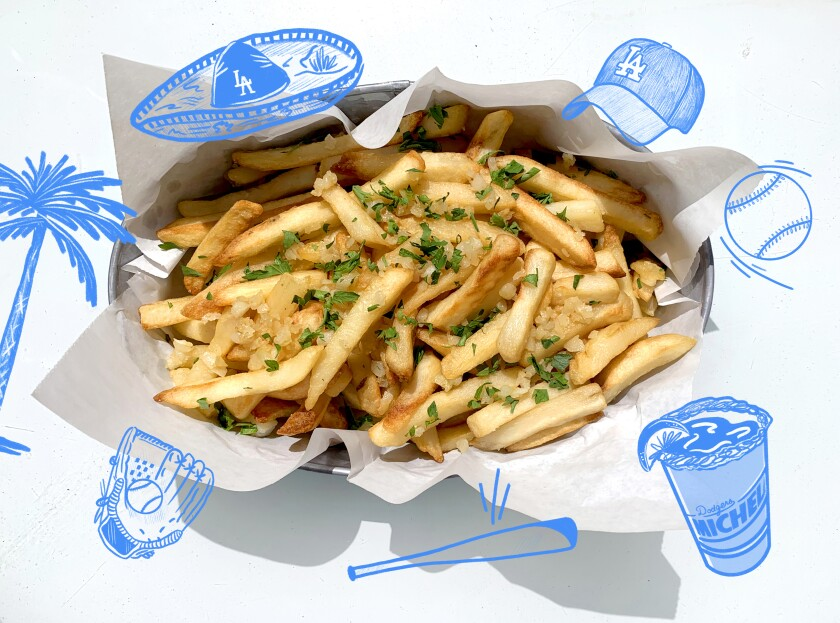 Sizzling garlic for fries will make your kitchen smell like Dodger Stadium on game night.