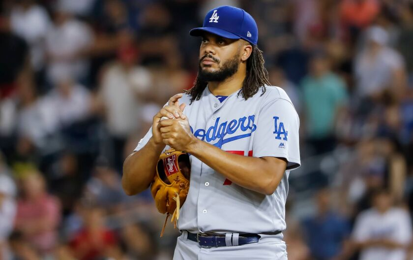 Dodgers closer Kenley Jansen has struggled this season, but will still be a big part of the team's postseason pitching effort.