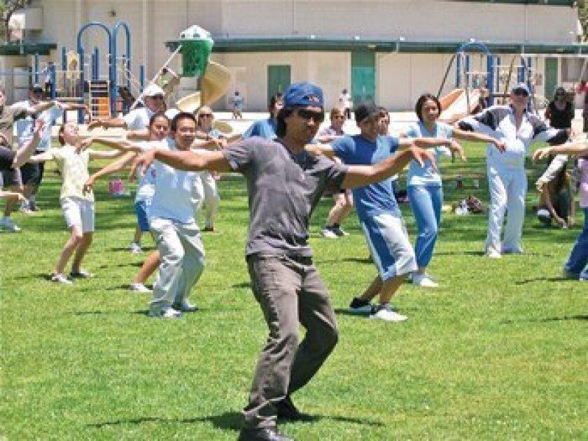 Hip-hop dancer/teacher Chris Estrella leads a class at The Cove. Photo: Courtesy
