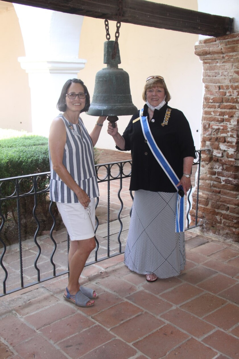 1809 bell at Mission San Luis Rey for Constitution Day.