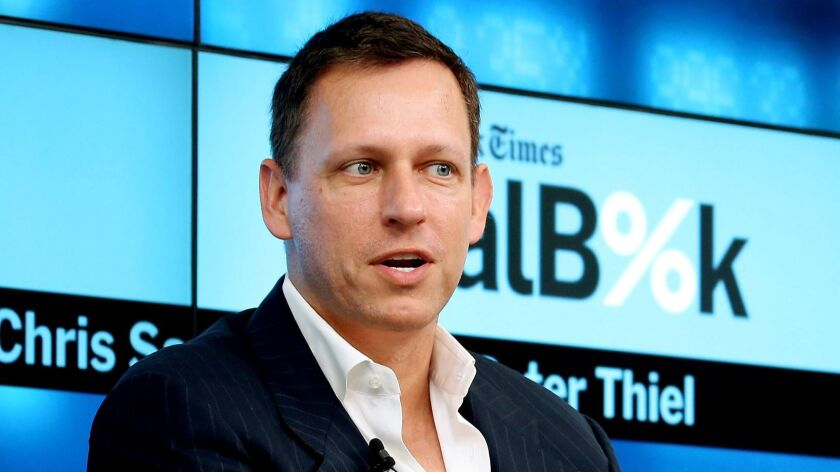 Peter Thiel is the co-founder and chairman of Palantir.