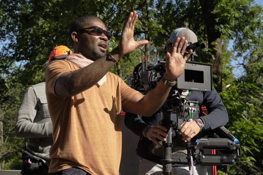 "David Oyelowo en el set ""The Water Man"" una película de David Oyelowo."