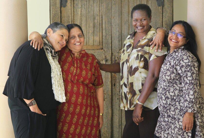 The Women PeaceMakers of 2014. From left: Robi Damelin, Nimalka Fernando, Ashima Kaul and Margaret Arach Orech