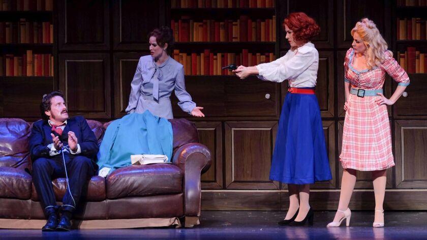 "David Humphrey, Allison Spratt Pearce, Joy Yandell and Karyn Overstreet star in San Diego Musical Theatre's ""9 to 5: The Musical."""
