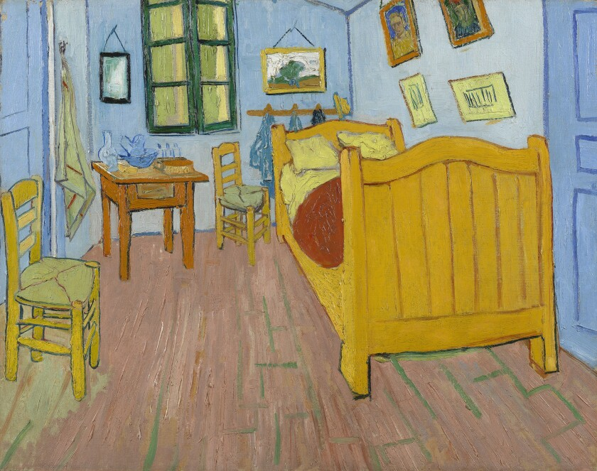 "Van Gogh painted three versions of ""The Bedroom,"" one at the Van Gogh Museum in Amsterdam. It can be explored brushstroke-by-brushstroke using the Google Arts & Culture app."