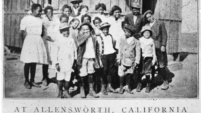CA.0523.ALLENSWORTH.5 – Allensworth school children. Credit: California State Parks, 2008. For ALLEN