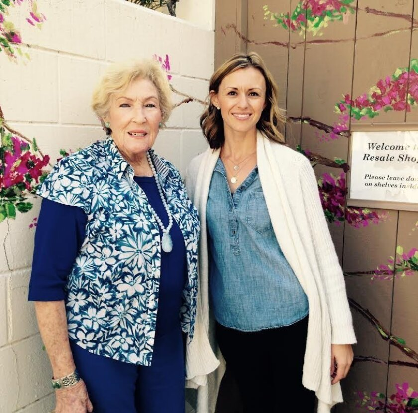 (L-R) Pat Beck, RSF Garden Club member; Erin Browne, RSF Garden Club executive director.