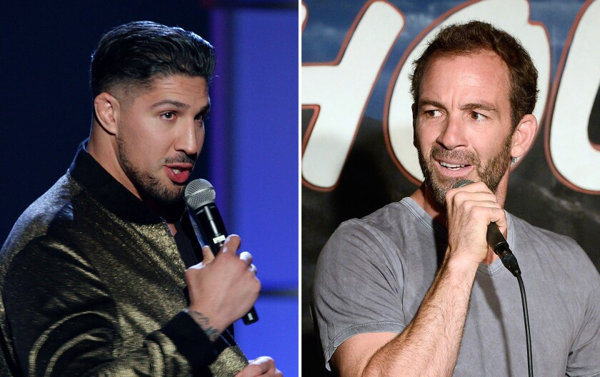 Brendan Schaub, left, and Bryan Callen will host a new podcast on Patreon.