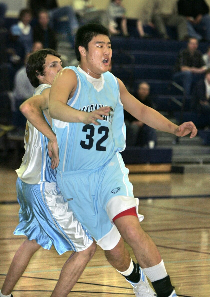 Chen Cai (No. 32) will no longer player for Maranatha Christian and has left San Diego.