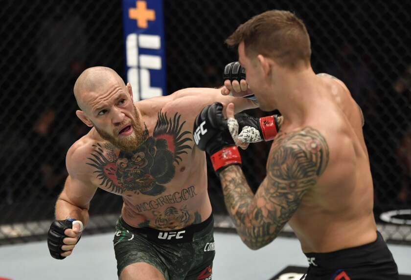 Dustin Poirier defeats Conor McGregor by knockout at UFC 257 - Los Angeles Times