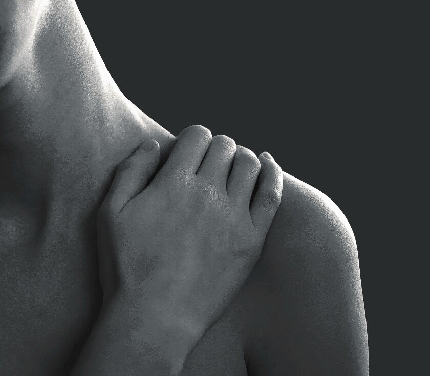 Shoulder pain could be helped with physical therapy, massage, walking and Rolfing.