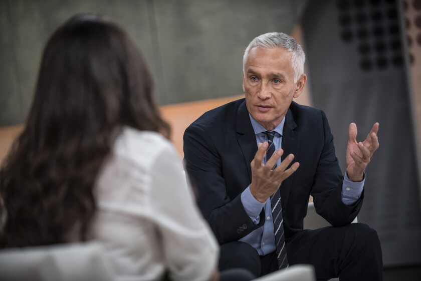 Univision news anchor Jorge Ramos at the Univision studios in Miami in 2014.