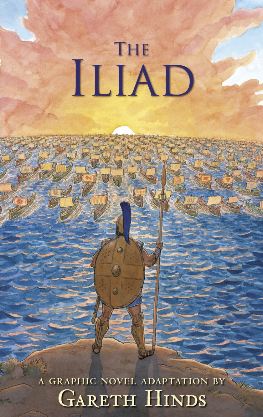 The Iliad by author Gareth Hinds THE ILIAD. Copyright © 2019 Gareth Hinds. Reproduced by permissio