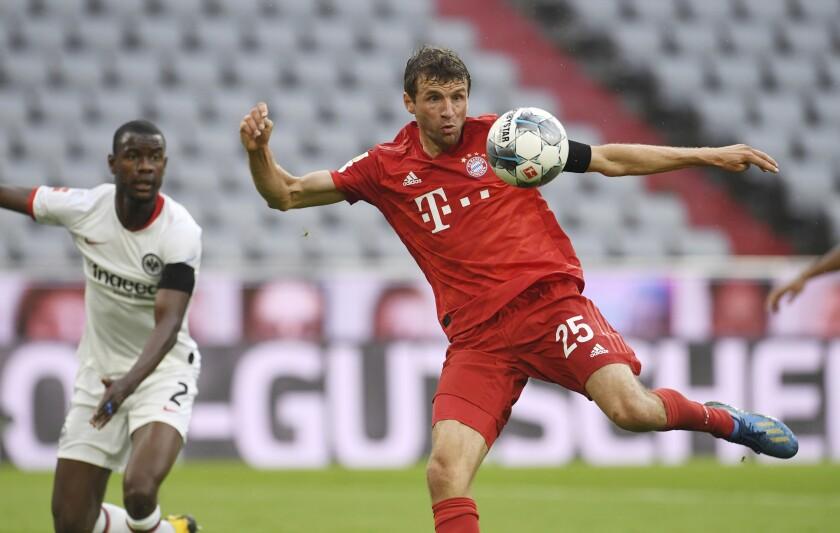 Bayern Munich's Thomas Muller