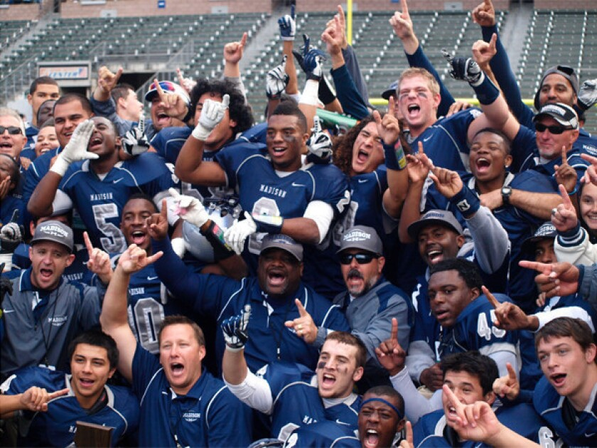 San Diego Madison rallies to win state Division III bowl game
