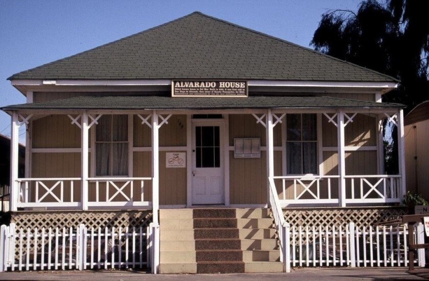 The Alvarado House at its present location, the Del Mar Fairgrounds.