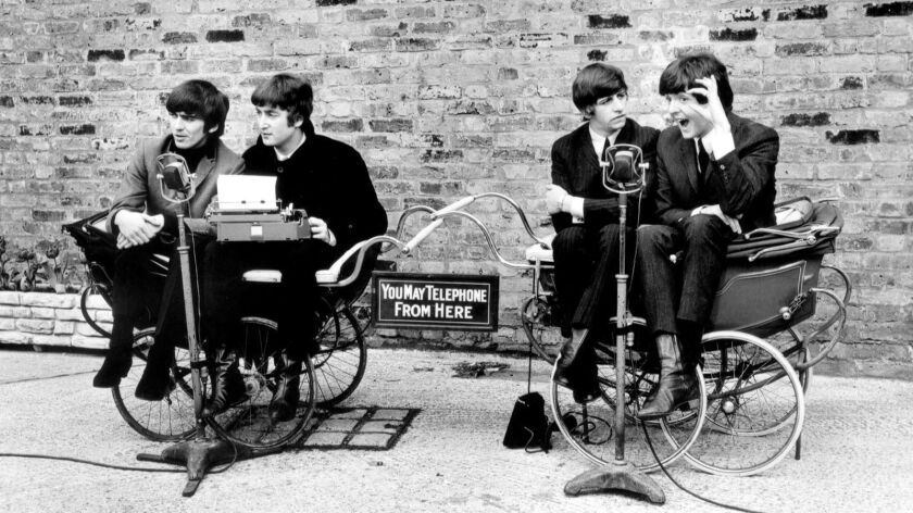 The Beatles will be feted at Saturday's 2017 San Diego Beatles Fair. The band, from left in 1964, George Harrison, John Lennon, Ringo Starr and Paul McCartney.