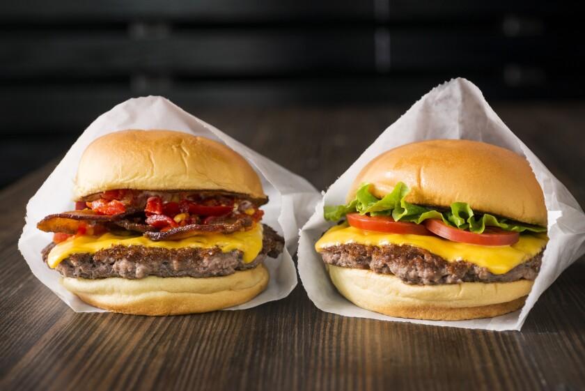 The Smoke Shack burger and the Shack burger at Shake Shack