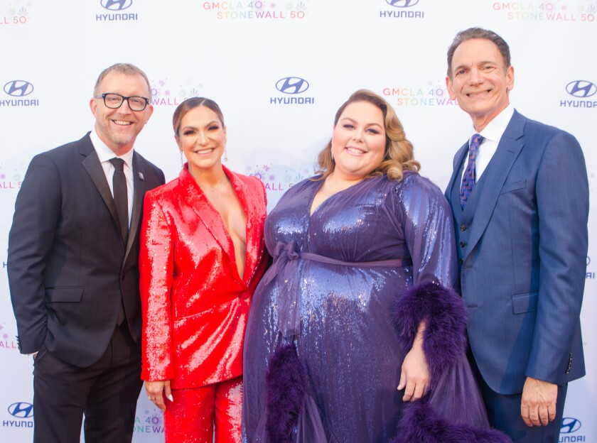 Steve Holzer, from left, Shoshana Bean, Chrissy Metz and Lou Spisto