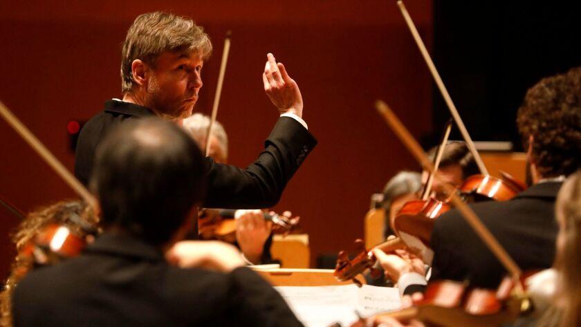Esa-Pekka Salonen conducts the Los Angeles Philharmonic on Thursday at Disney Hall.