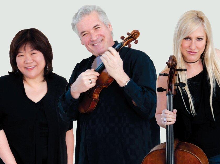 "The La Jolla Music Society's SummerFest performance on Aug. 9 featured ""An Evening With Zukerman Trio"" (Pianist Angela Cheng, violinist Pinchas Zukerman and cellist Amanda Forstyh)."