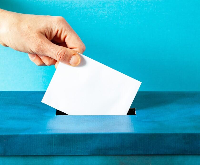 ballot being cast