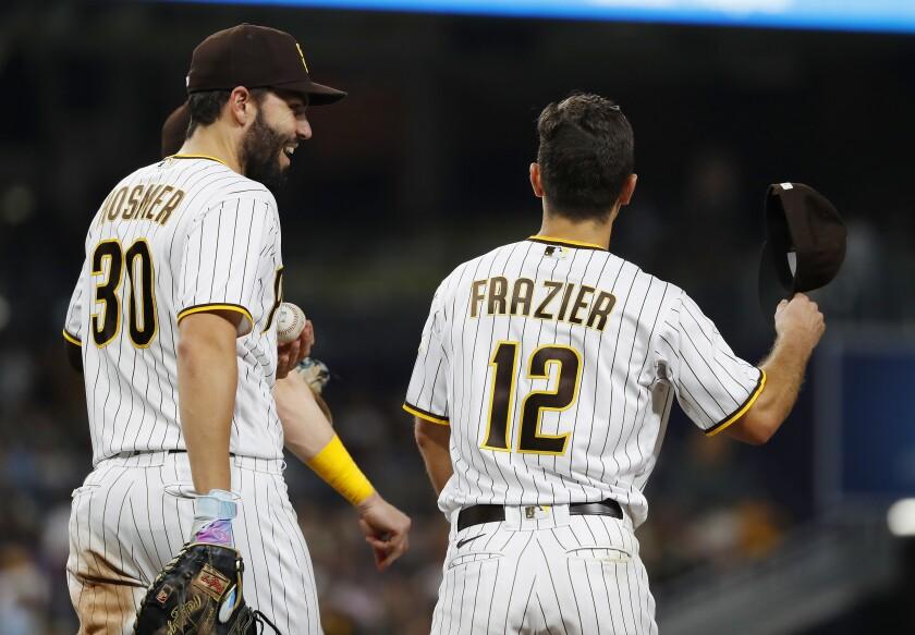 The Padres' Eric Hosmer and Adam Frazier