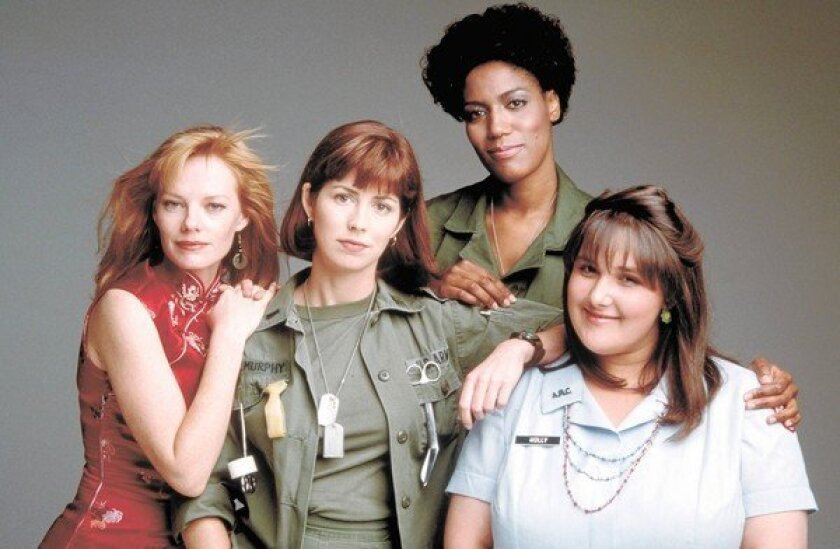 """""""China Beach"""" starred Marg Helgenberger, left, Dana Delany, Nancy Giles and Ricki Lake. All four will be at a Friday reunion."""