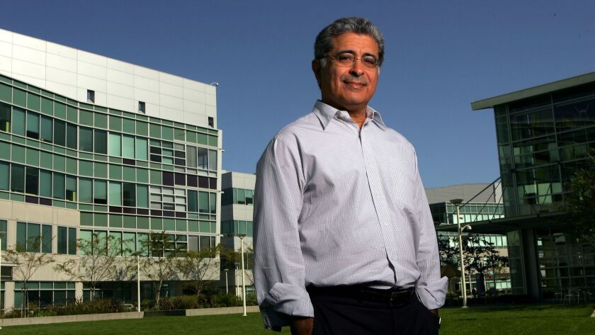 Yahoo chief executive officer Terry Semel poses for a portrait outside the company's headquarters in