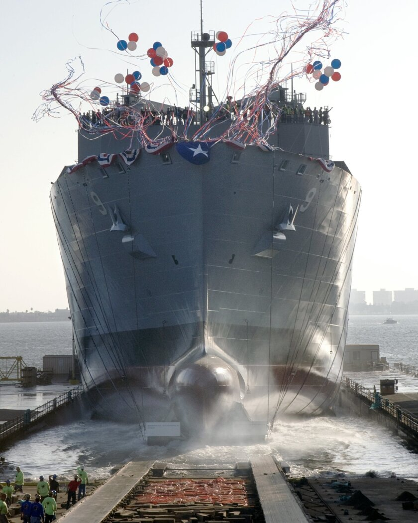 NASSCO launched T-AKE 9, a dry cargo ammunition ship, in 2009.