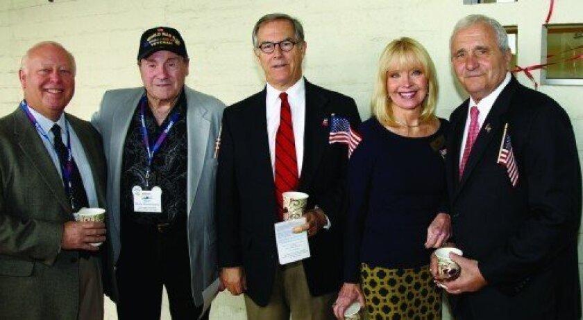 David Smith, Monte Montemarano, Bob Chase, Sheryl Chase, speaker Anthony Principi (Photo: Jon Clark)