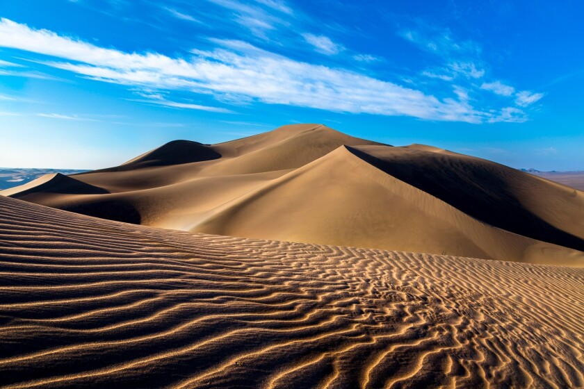 Sand dunes in the Rig-e Yallan area of the Lut desert in Iran.