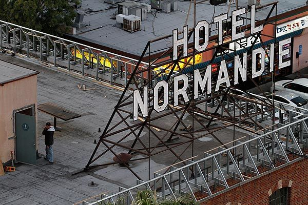 Hotel Normandie, a 1920s relic in L.A.'s Koreatown, has been purchased by architect Jingbo Lou, who expects to reopen it as a boutique hotel by the end of 2012.