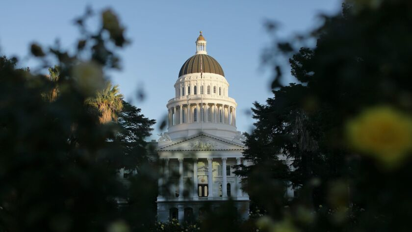 SACRAMENTO, CALIF. - OCTOBER 26, 2017: Capitol building in Sacramento. (Myung J. Chun / Los Angeles