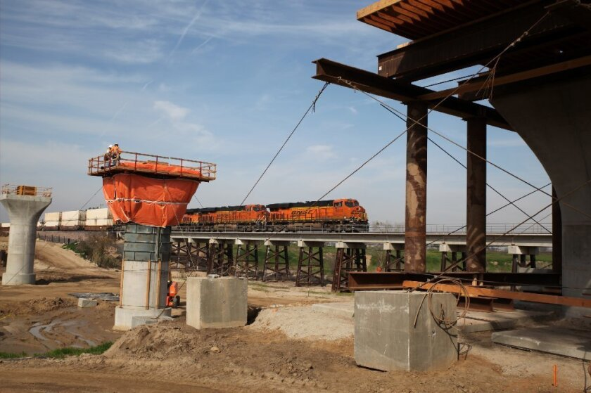 Construction on the California High-Speed Rail project is underway in Fresno.