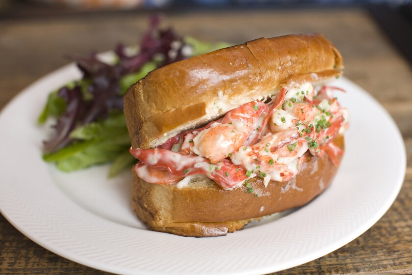 The lobster roll from Herringbone restaurant. The West Hollywood spot will move to Santa Monica in early summer, and in its place, a new Brian Malarkey concept.