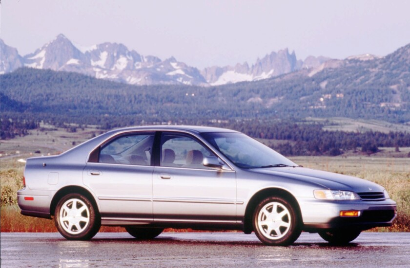 Older model Honda Accords like this 1994 EX are the most stolen cars in America, according to the National Insurance Crime Bureau.