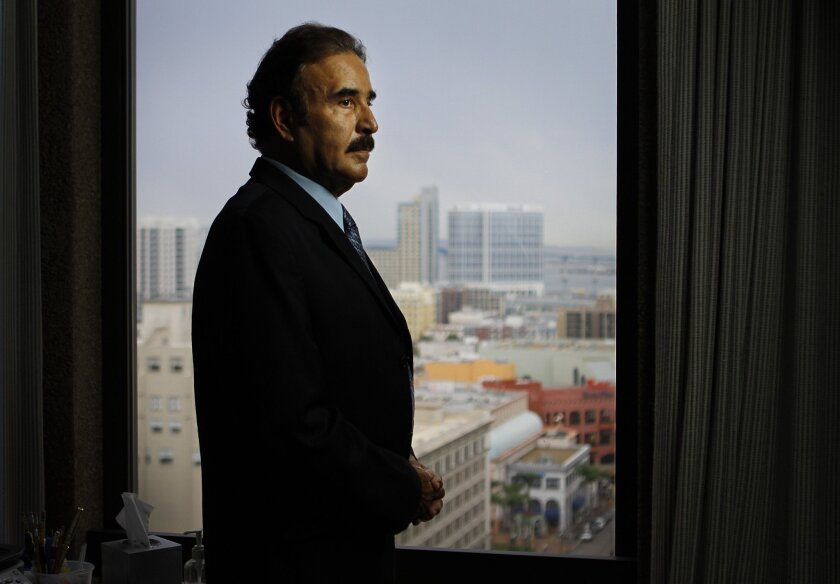 San Diego immigration attorney Randall B. Hamud is shown here in his downtown office on Tuesday, Sept. 6, 2011.