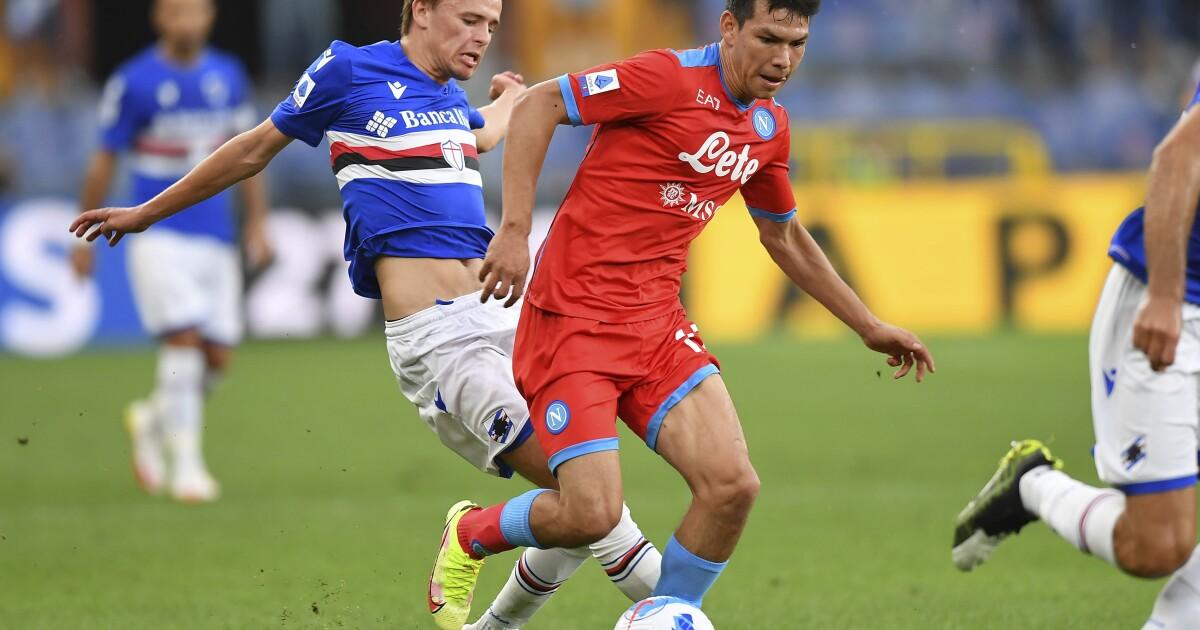 Osimhen y Lozano guían a Napoli en goleada sobre Sampdoria - Los Angeles Times