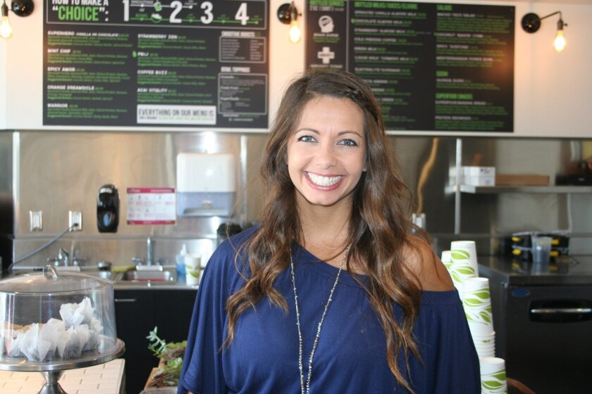 Nastasha McKeon has opened a second Choice Superfood Bar & Juicery, this one in Solana Beach.