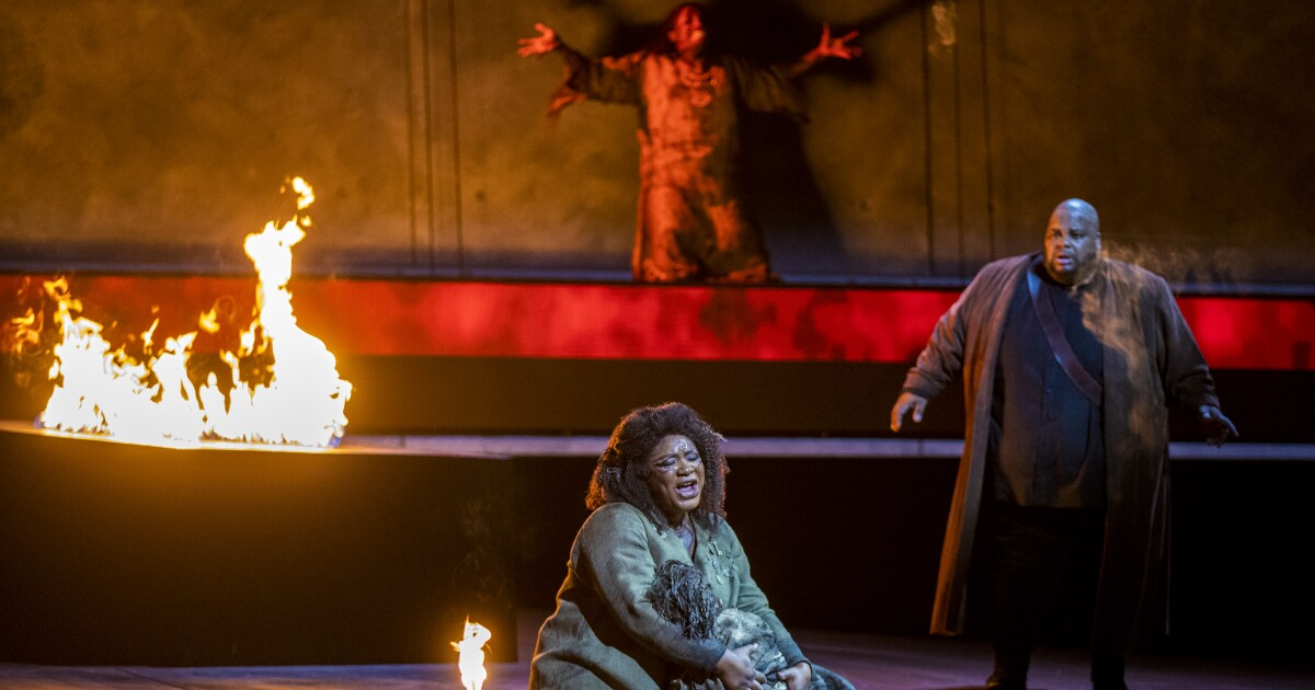 Review: L.A. Opera ends its pandemic hiatus with a triumphant, season-opening 'Il Trovatore'