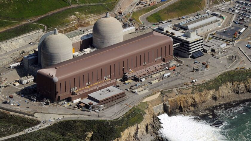 Aerial view of the Diablo Canyon Nuclear Power Plant which sits on the edge of the Pacific Ocean at Avila Beach in San Luis Obispo County, California on March 17, 2011. AFP PHOTO/Mark RALSTON (Photo credit should read MARK RALSTON/AFP/Getty Images)