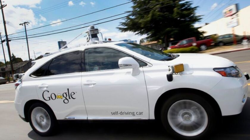 Google is among the companies testing self-driving cars