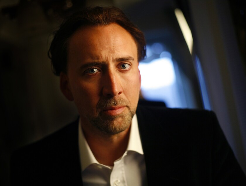 """Nicolas Cage will star in the Christian drama """"Left Behind,"""" set for an Oct. 3 release."""