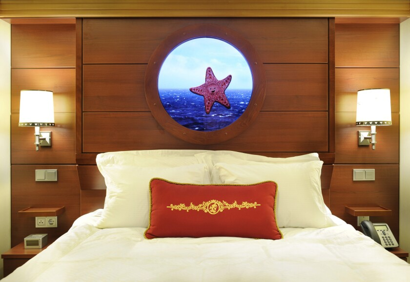 """Disney Dream's """"magical"""" portholes on inside staterooms show real–time views."""