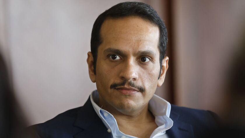 LOS ANGELES, CALIFORNIA--NOV. 23, Sheik Mohammed bin Abdulrahman Al Thani, Qatar's Foreign Minister