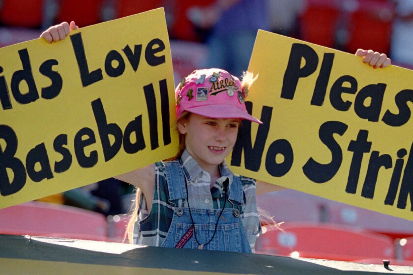 Looking back at the impact of the 1994 Major League Baseball strike - Los Angeles Times