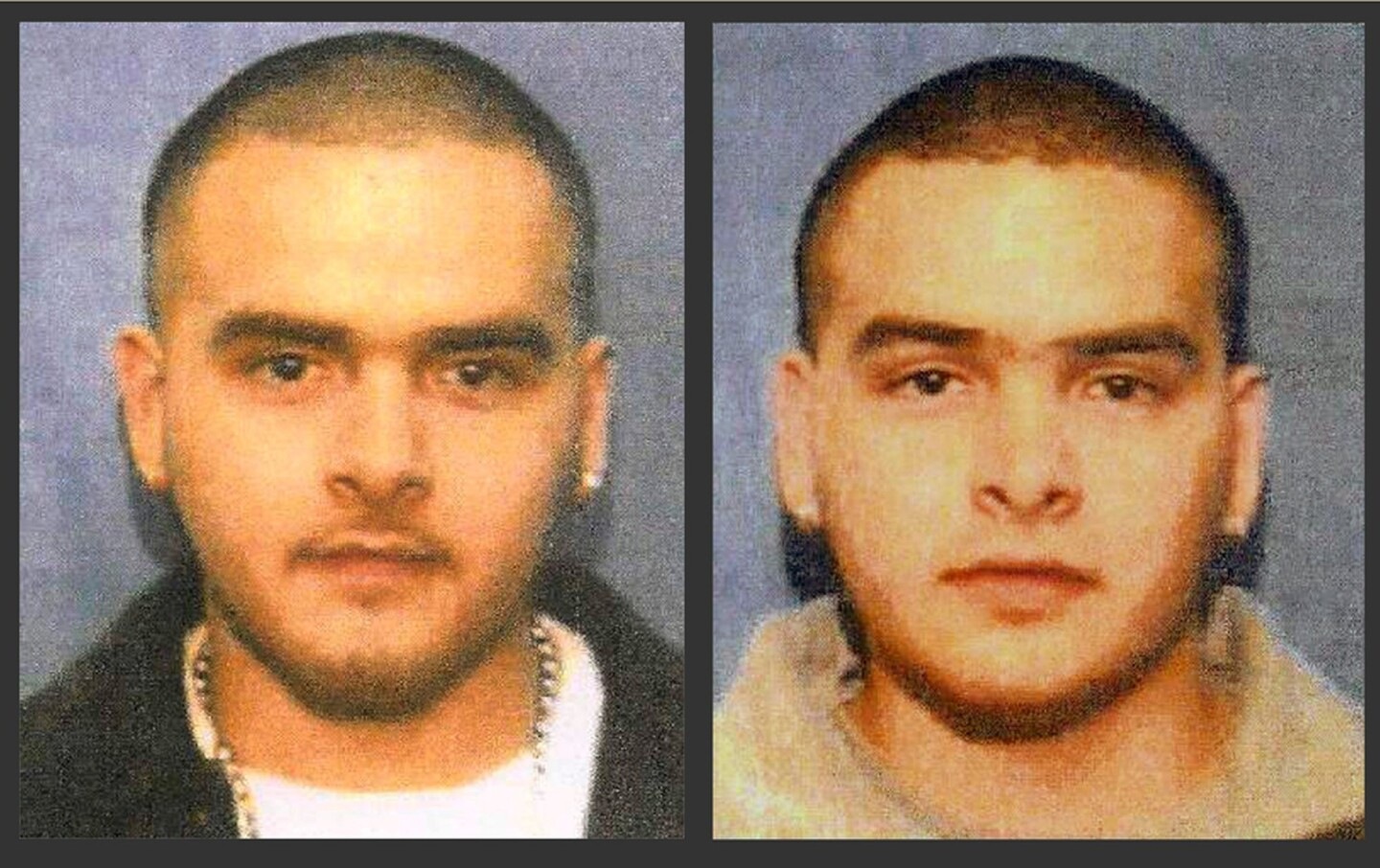 Chicago twins Pedro Flores, left, and Margarito Flores, in undated photos. The brothers have testified on behalf of the prosecution, saying they operated a massive smuggling way station in Chicago, distributing cocaine and drugs around the United States by rail and truck, often smuggled in vegetable loads.