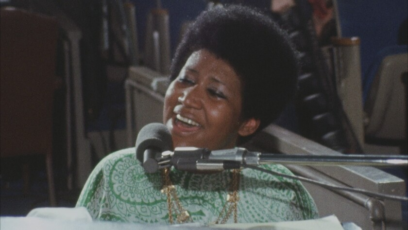 """Aretha Franklin, seen in 1972 in the movie """"Amazing Grace,"""" was awarded a special citation for the 2019 Pulitzer Prizes."""