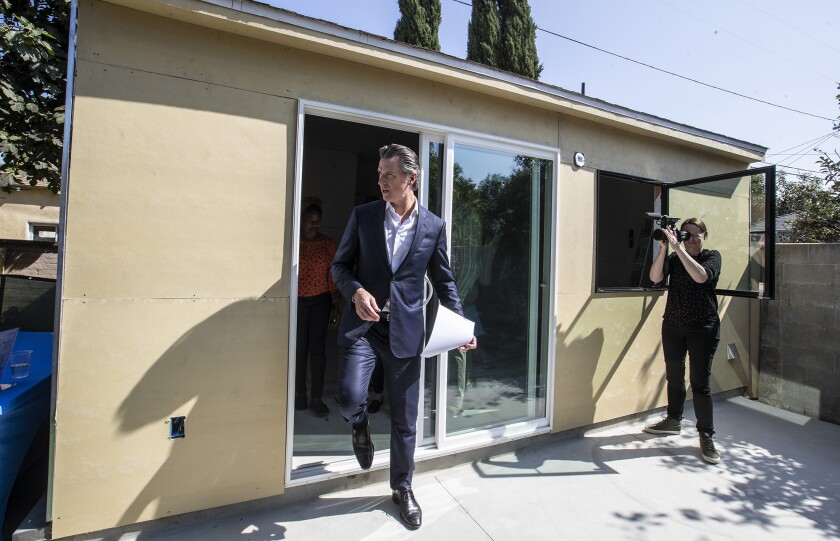 Facing a deepening housing crisis, Gov. Newsom says he's still 'pleased' with his work on it